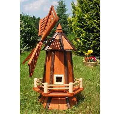 Large Wood Windmill Christmas Gift Wooden Windmills Garden Ornament New Outdoor