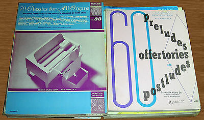 Nice Vintage Lot of 19 Organ Song Books Instruction Books Etc.