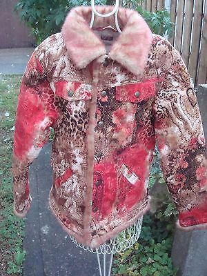 Designer Pampolina girls red/ brown quilted jacket coat in size 140 cm / 9-10 yr