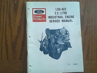 Ford Service Manual LSG-423 Industrial Engine 2.3 Litre  July 78