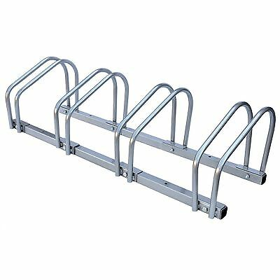 Bike Floor Wall 4 Mount Bicycle Locking Stand Cycle Rack Storage Garage Shed