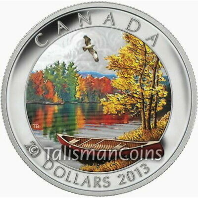Canada 2013 Autumn Bliss Stunning Fall Color $20 Pure Silver Proof in Full OGP