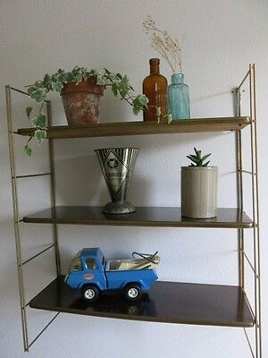 Vintage String Shelving Tomado Style 20th Century Wooden Shelving Unit