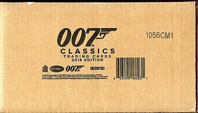 James Bond Classics 2016 12 box card case Sealed 2 Autograph Cards  per box