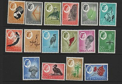 Swaziland 1962 definitives SG90-105 MLH mounted mint set stamps
