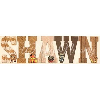 Woodland Themed Wooden Nursery Letters - Wall Letters - Forest Animal - Woodland