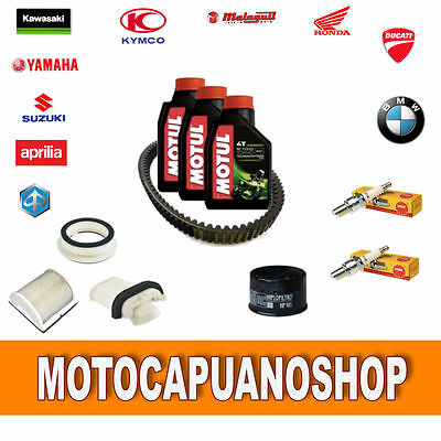 Replacement Kit Yamaha T Max 500 2002 Oil Motul Filters Candles Belt