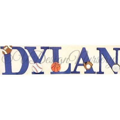 Sports Themed Wooden Nursery Letters - Sports Decor - Wall Letters - Sports Room