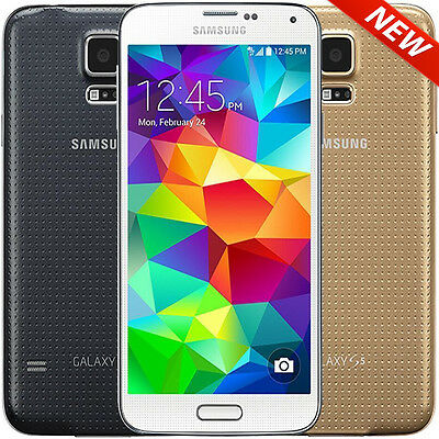 New Samsung Galaxy S5 16GB White Gold Black Unlocked AT&T Tmobile Smartphone