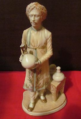 "Royal Worcester Orientalist Figurine ""the Cairo Water Carrier"" By James Hadley"