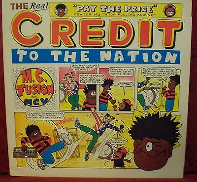 """CREDIT TO THE NATION' pay the price 12"""" vinyl unplayed"""