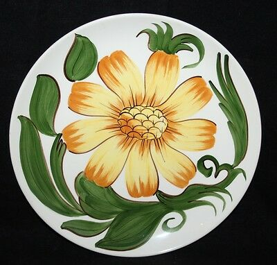 """Wade / Royal Victoria Pottery - Handpainted Floral 9 1/2"""" Plate - c1953"""