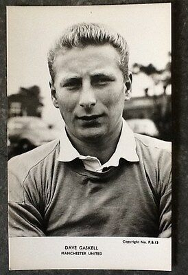 1960s MANCHESTER UNITED DAVE GASKELL photo postcard blank backed