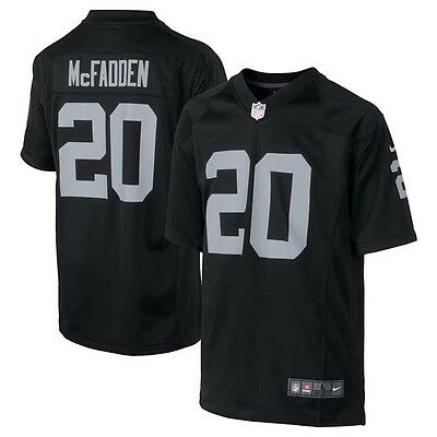 Nike NFL Oakland Raiders Darren McFadden American Football Game Jersey Black S