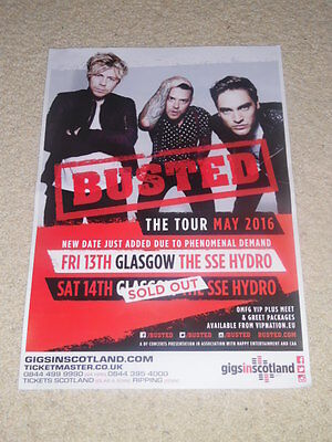 Busted CONCERT POSTER - may 2016 live music show gig tour poster