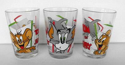 RARE TOM and Jerry JERRY Lot of 3 GLASSES 4 inches tall MINT Turkey 2014