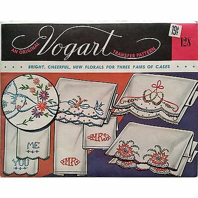 Lot of Vogart Repeat Transfers Vintage 1940's Embroidery Linens Kitchen Home vo4