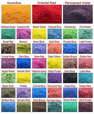 Cosmetic Grade Natural Mica Powder Soap Candle Colorant Dye Makeup Cosmetic 50g