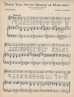 2 VTG MOUNT HOLYOKE COLLEGE song - 'ROLLING'  HAVE YOU NEVER HEARD '29 music  MA