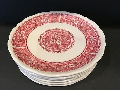 Set of 6 luncheon plates - Strawberry Hill by Syracuse China  Restaurant Ware 9""