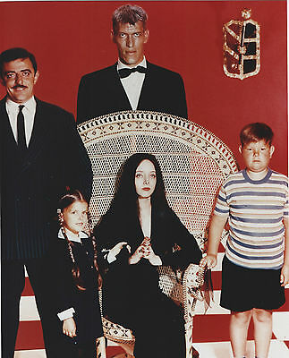 The Addams Family Cast 8 X 10 Photo With Ultra Pro Toploader