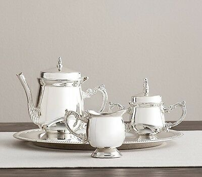 Pottery Barn Kids Silver Play Tea Set New In Box
