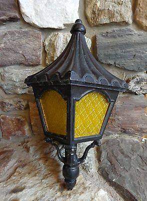 Vtg Cast Aluminum Porch Outdoor Light Fixture for Parts Restoration Repurpose