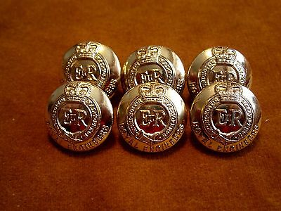 Set of 6 British Royal Army Engineers Corps Anodized GAUNT Buttons D19mm #300