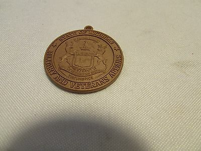 State of  Michigan Military and Veterans affairs medal MINT No Ribbon