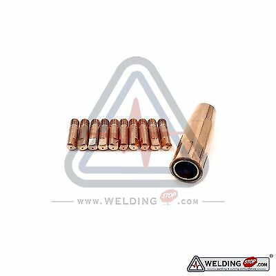 MB 15AK Binzel Abicor Style MIG Welding Torch Tip 0.8mm Conical 11pcs