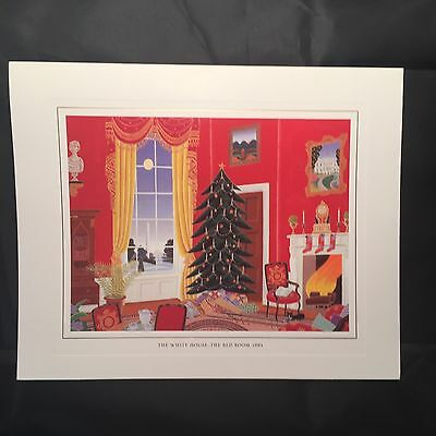 1994 White House Presidential Christmas Card Clinton The Red Room NOS