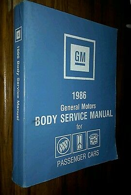 1986 Gm Body Service Manual Buick Oldsmobile Cadillac Grand National