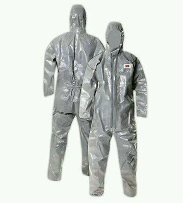 3M 4570 Chemical Protective Coveralls Full suit with Hood LARGE