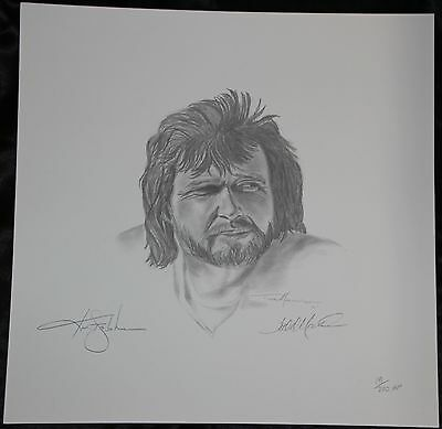 Oakland Raiders Kenny Stabler/Todd Marinovich Signd Artist Proof Litho The Snake