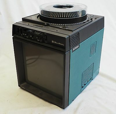 Vintage Bell & Howell TV Style Slide Projector Viewer Model 707X Working Well
