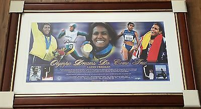 CATHY FREEMAN Olympics SIGNED & FRAMED Ltd Edition PRINT *SALE*
