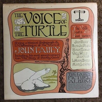 John Fahey The Voice Of The Turtle LP 1968 Original Press Black Labels 11 Tracks