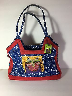 Vintage Laura Burch Purse Cats! Cat Handbag With Wood Tags 1980s