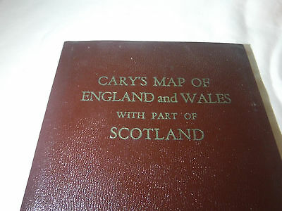 Cary's Map Of England And Wales With Part of Scotland 1963