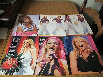 BRITNEY SPEARS Lot of 6 Full Page Teen Magazine Pinups Poster Clippings #200A