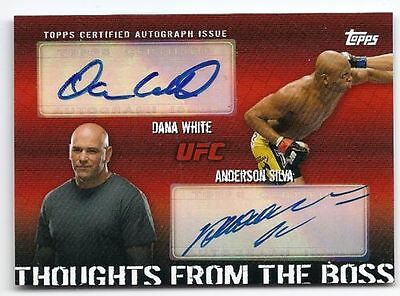 Topps Ufc 2010 Thoughts From The Boss Anderson Silva Dana White Dual Auto 04/25