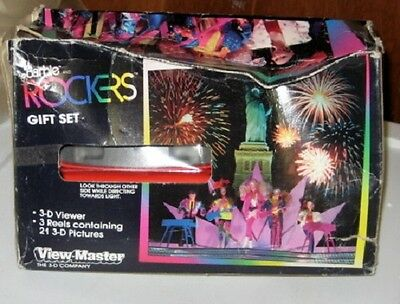 Vintage 1986 Barbie And The Rockers View-Master 3-D Gift Set Viewer and 3 Reels