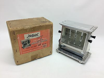 Vintage 1920s/30s Hotpoint Toaster Glass Sided Antique Art Deco In Original Box