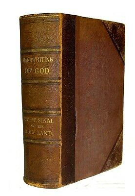 PALESTINE Holy Land EGYPT 1868 SINAI Jesus Christ JERUSALEM Jew MUSLIM Bible GOD