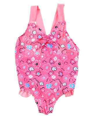 2Sea Australia Girls Adorable Pink Floral One Piece Swimsuit, swimmers, bathers