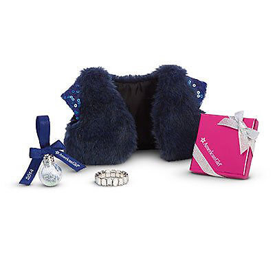 American Girl Doll HOLIDAY ACCESSORIES NEW in Box Sequined 'FUR' Bolero GIFT