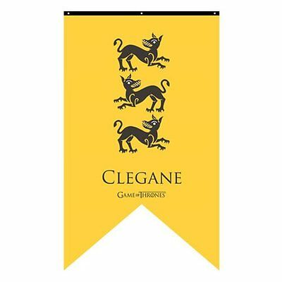 Game of Thrones New * Clegane Sigil Banner * Hound 30 x 50 Fabric Poster Print