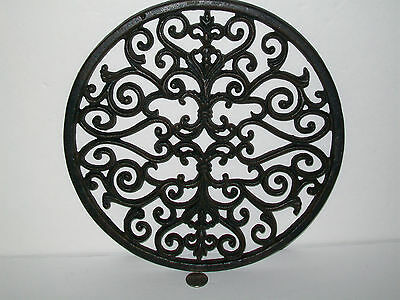 Round Architectural Garden Cast Iron Grate Stepping Stone Wall Decor Art