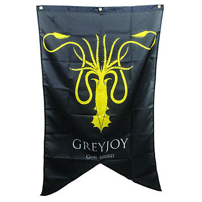 Game of Thrones New * Greyjoy Sigil Banner * Theon 30 x 50 Fabric Poster Print