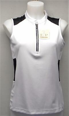 New Ladies EP PRO Fancy That sleeveless zip golf polo shirt Small Polyester